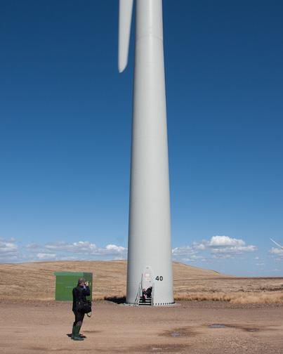 Stuart at Whitelee Wind Farm